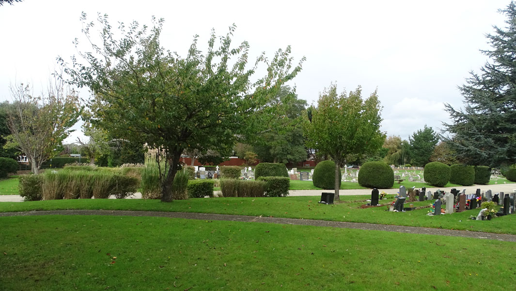 Burial Service at Littlehampton Cemetery in Sussex