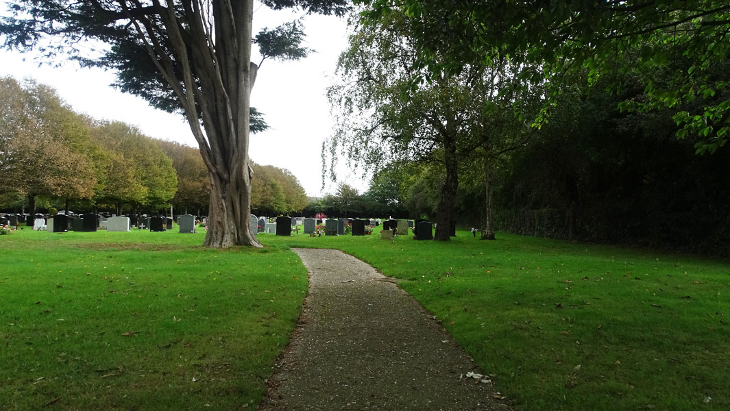 Burial Service at Littlehampton Cemetery in West Sussex