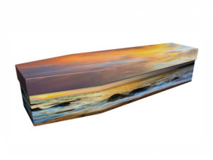 Cardboard Coffin Seaside Sunset