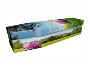Cardboard Coffin VW Camper Van