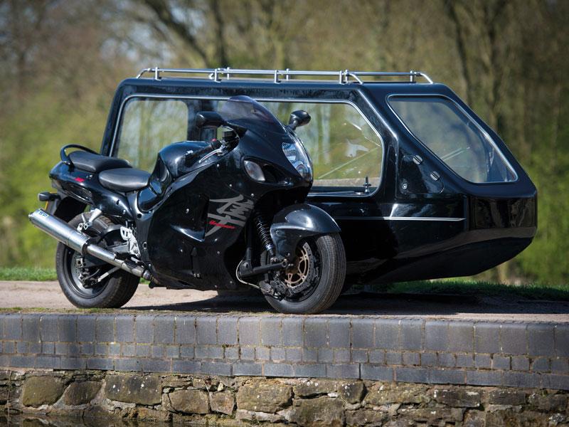Funeral Suzuki Hayabusa Motorcycle and Sidecar