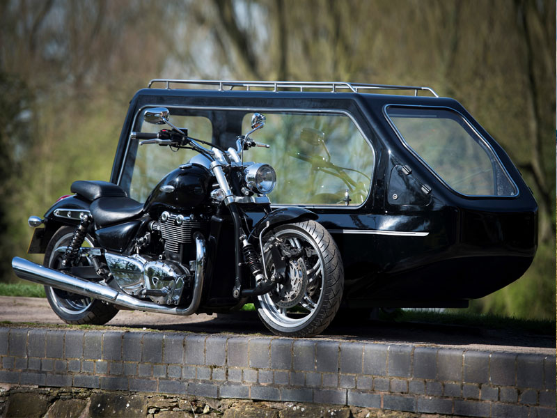 Funeral Triumph Thunderbird Motorcycle and Sidecar
