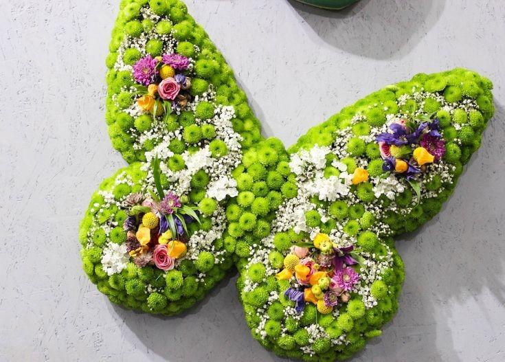 Funeral Flowers Green Butterfly £145