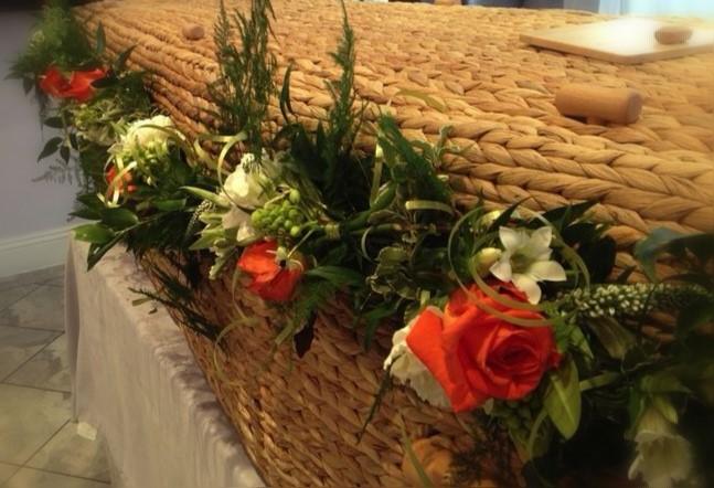 Funeral Flowers Coffin Garland £100