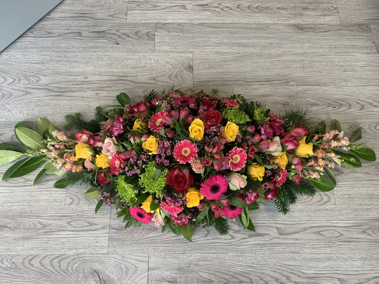 Funeral Flowers Double Ended Coffin Spray From £150