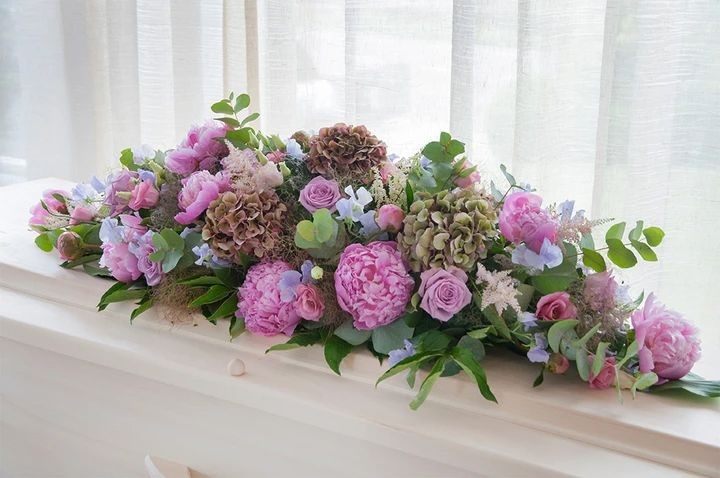 Funeral Flowers Pink Double Ended Coffin Spray From £150