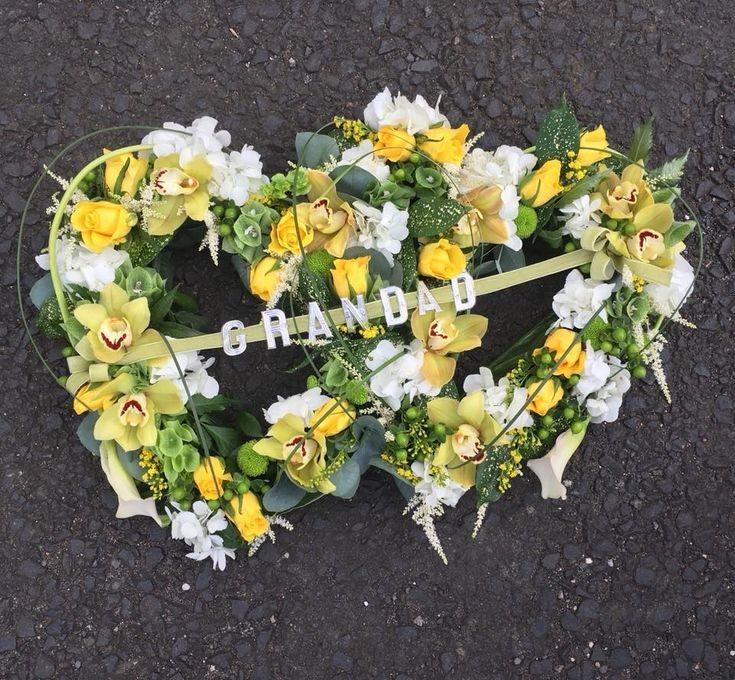Funeral Flowers Double Open Heart £150