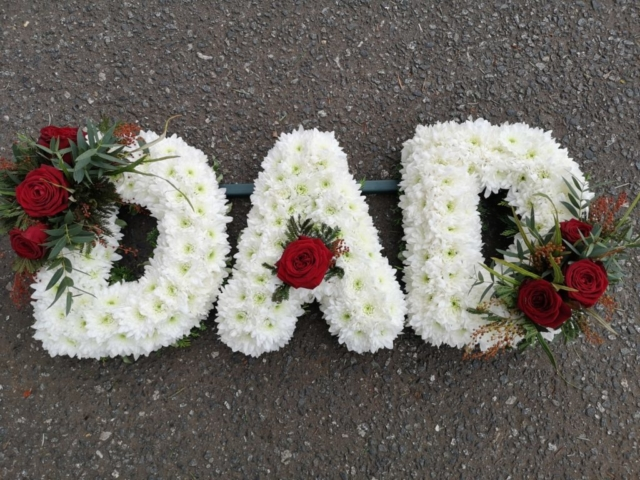 Funeral Flowers Dad Tribute £135