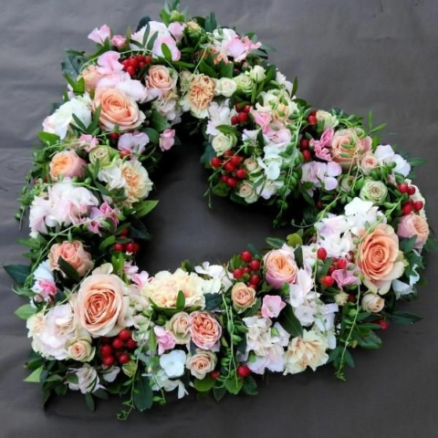 Funeral Flowers White Open Heart From £65