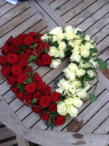 Funeral Flowers Mixed Open Heart From £65