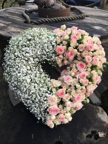 Funeral Flowers Split Open Heart From £65