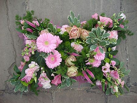 Funeral Flowers Pink Pillow £100