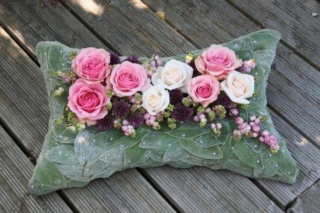Funeral Flowers Pillow £100