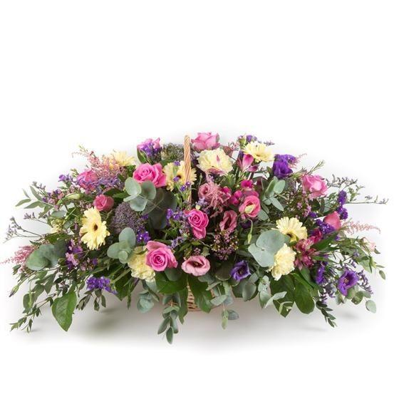 Funeral Flowers Purple Seasonal Basket £50