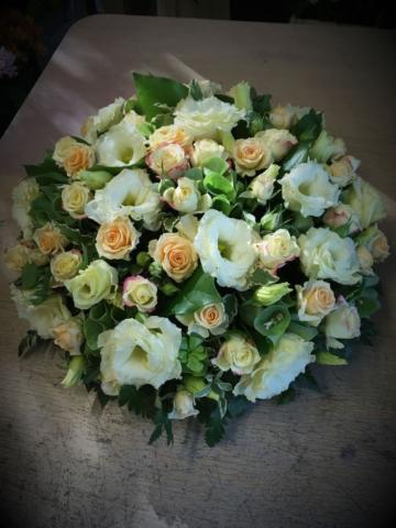 Funeral Flowers Yellow Seasonal Posie From £45