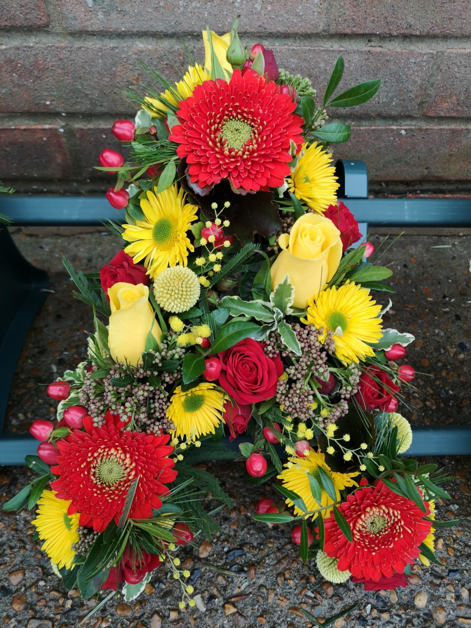 Funeral Flowers Bright Single Letter £45 Each