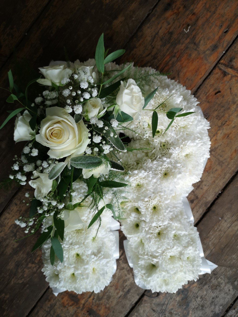 Funeral Flowers White Single Letter £45 Each