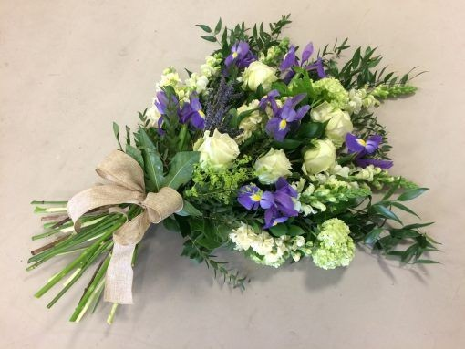 Funeral Flowers Purple Tied Sheaf From £50