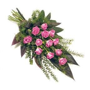 Funeral Flowers Pink Tied Sheaf From £50