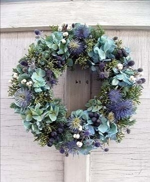 Funeral Flowers Blue Wreath From £45
