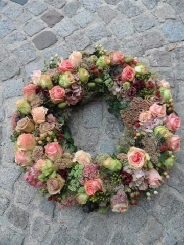 Funeral Flowers Mixed Wreath From £45