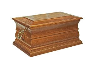 Funeral Ashes Casket Norfolk Solid Oak Stain Casket