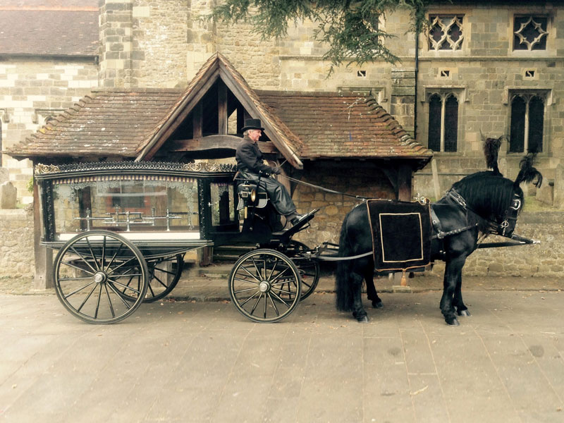 Horse Drawn Carriage for Funerals