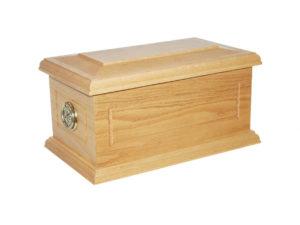 Surrey Solid Oak Funeral Casket
